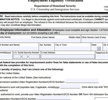 NEW I-9 FORM: DONT FORGET!