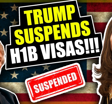 TRUMP SUSPENDS H-1B VISAS!