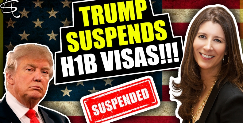 TRUMP SUSPENDS H-1B VISAS!